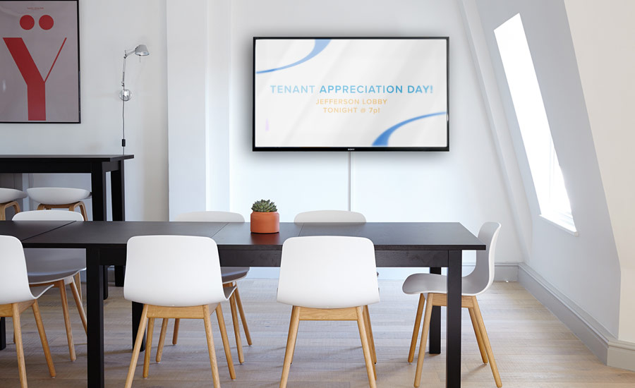 DIGITAL SIGNAGE - Display screens where owners can display messages, announcements or advertisement