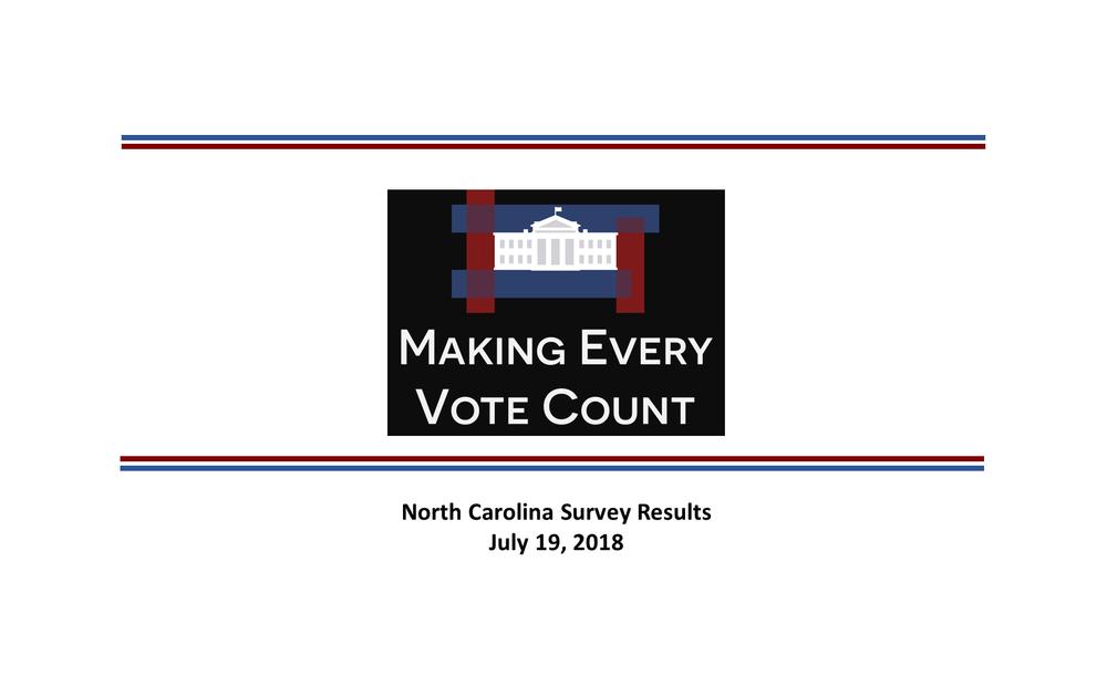 Poll on National Popular Vote - North Carolina 2018