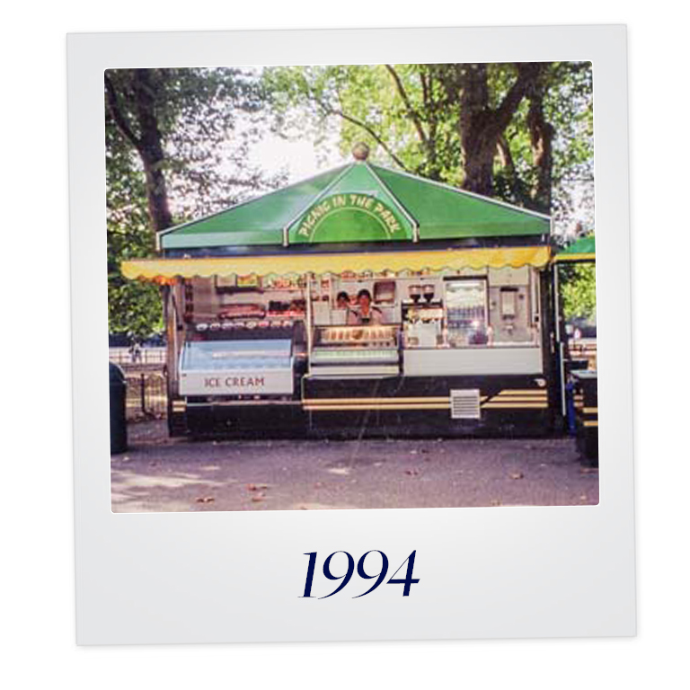 Breaking into new markets... - Ambitious to grow the business, the husband & wife duo decided to diversify their offering in to food & drink which helped them commence work with The Royal Parks in Hyde Park.