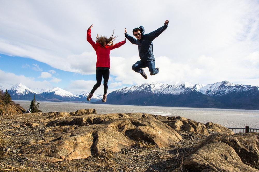 My wife & I along the Turnagain Arm trail in Alaska