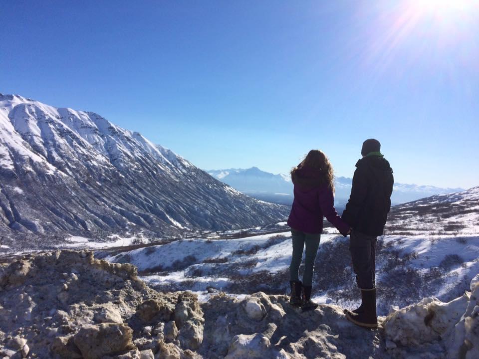 Overlook at Hatcher Pass Alaska in March