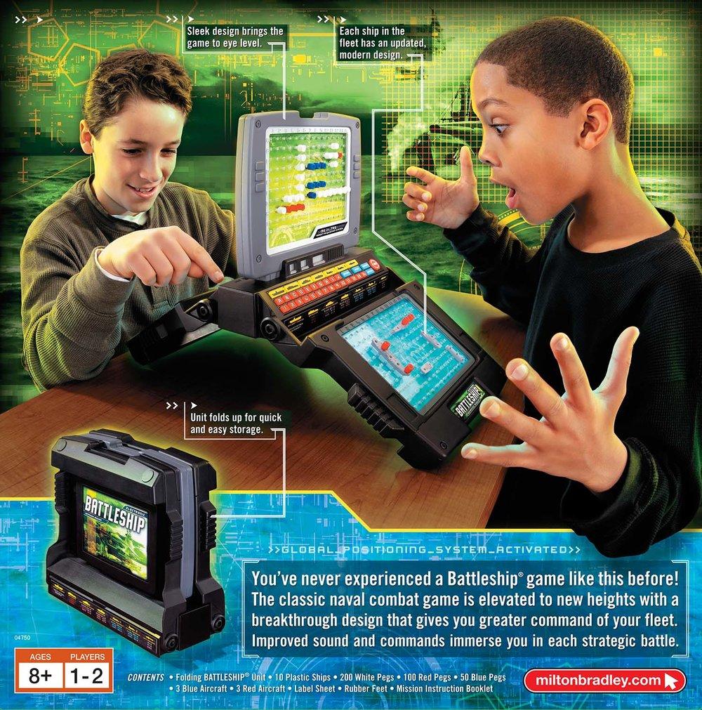Hasbro Games, Electronic Battleship Packaging