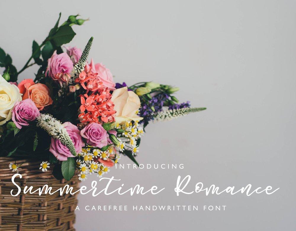 Summer Time Romance Font