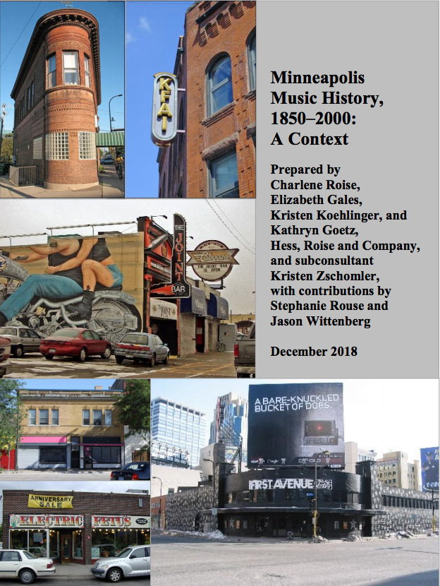 Minneapolis Music History Project - City of Minneapolis