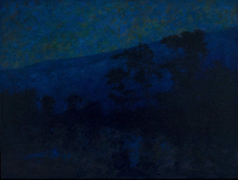 Night on the Delaware, oil on canvas, 16 x 20 inches. $1800 + $85.00 packing, shipping and insurance in the United States.