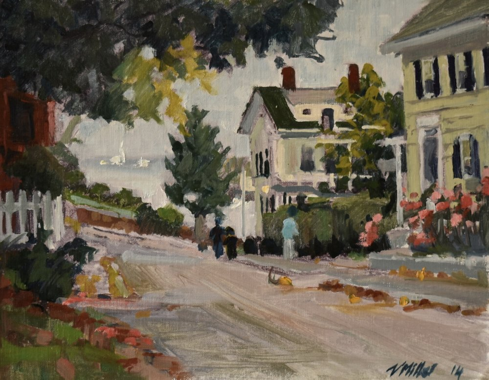 Kings Street, Rockport, plein air.