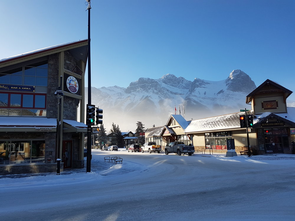 Beautiful alpine glow on a brisk morning in Canmore