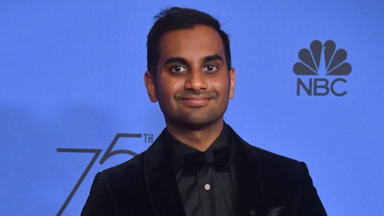 Aziz Ansari after winning the Golden Globe for Best Performance by an Actor in a Television Series — Musical or Comedy this month. Credit Frederic J. Brown/Agence France-Presse — Getty Images
