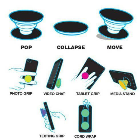 Multiple uses for PopSockets!