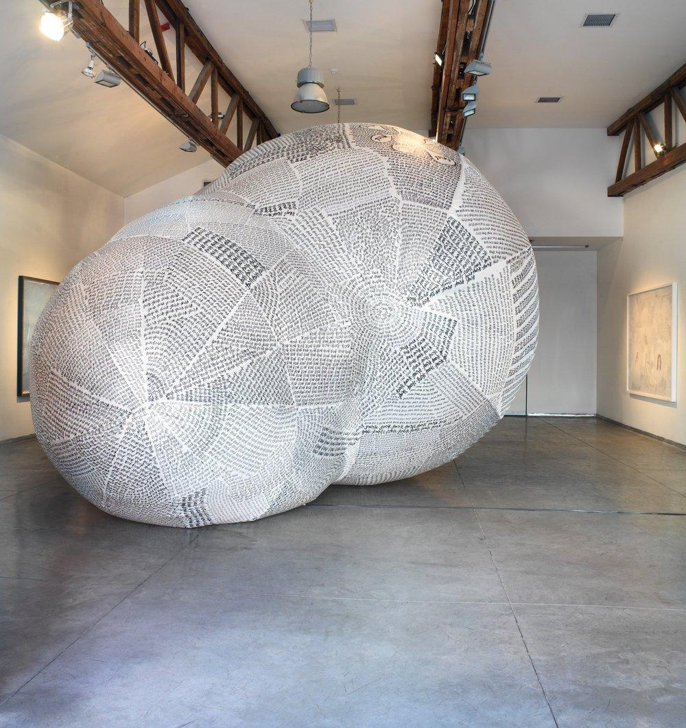 Cloud , 2009.Ink on Nylon fiber cloth 900 X 500 X 400 CM