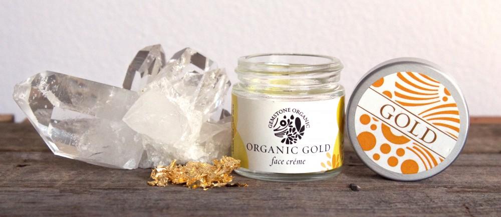 Gold Gemstone Organic crystal skincare