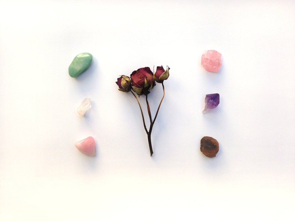 gemstone organic crystals for love