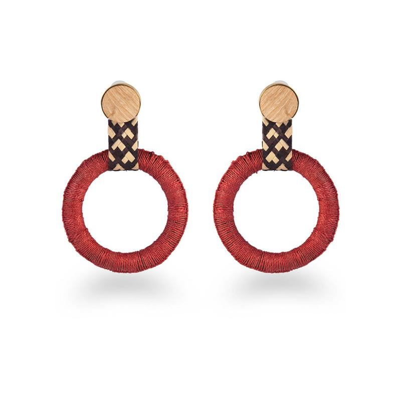 MOLA SASA    Terracotta Maguey Hoop Earrings
