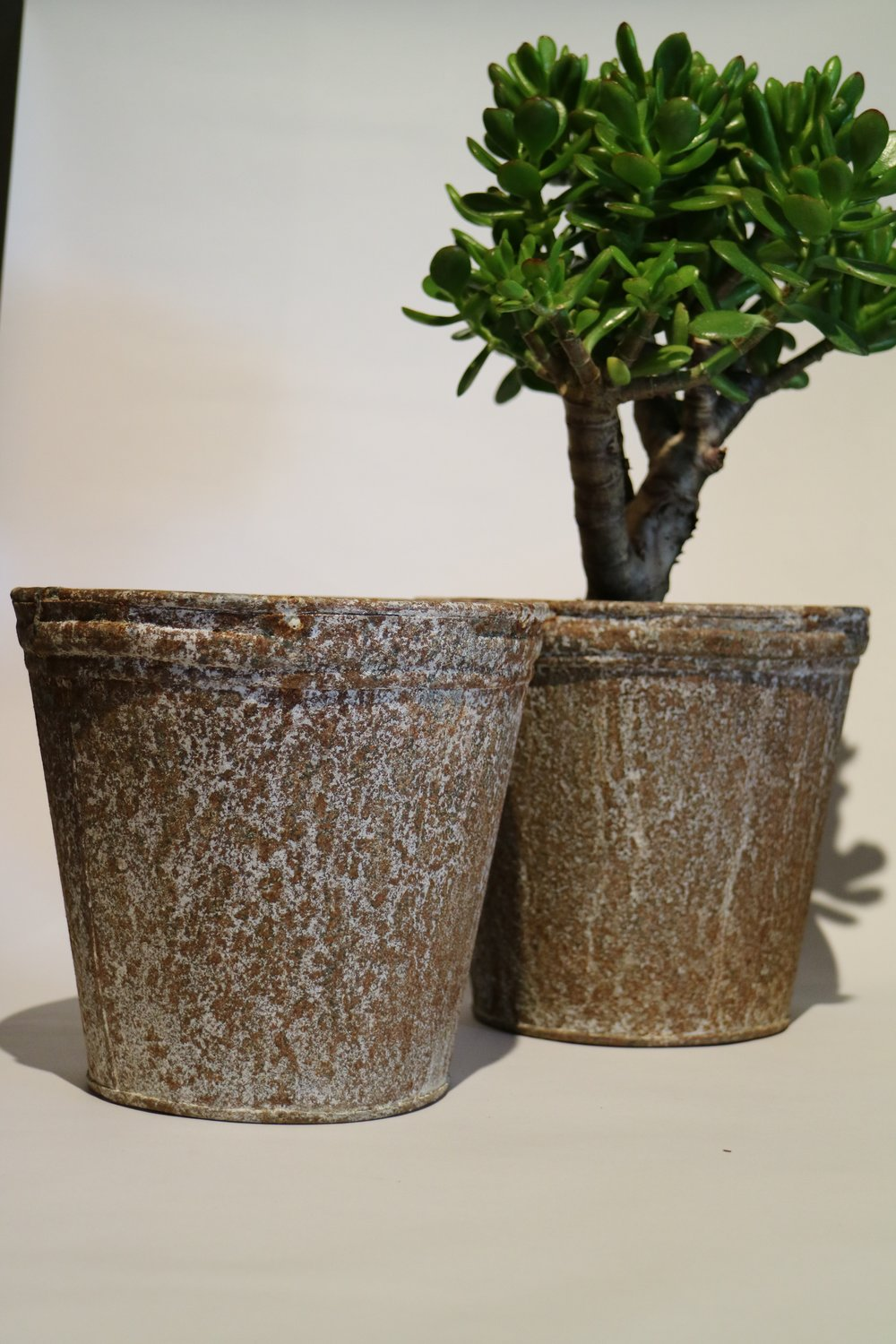 Zinc Coated Metal Pots