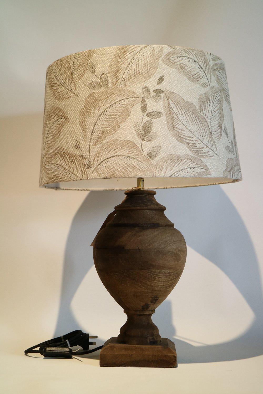 Wooden Lamp, Round