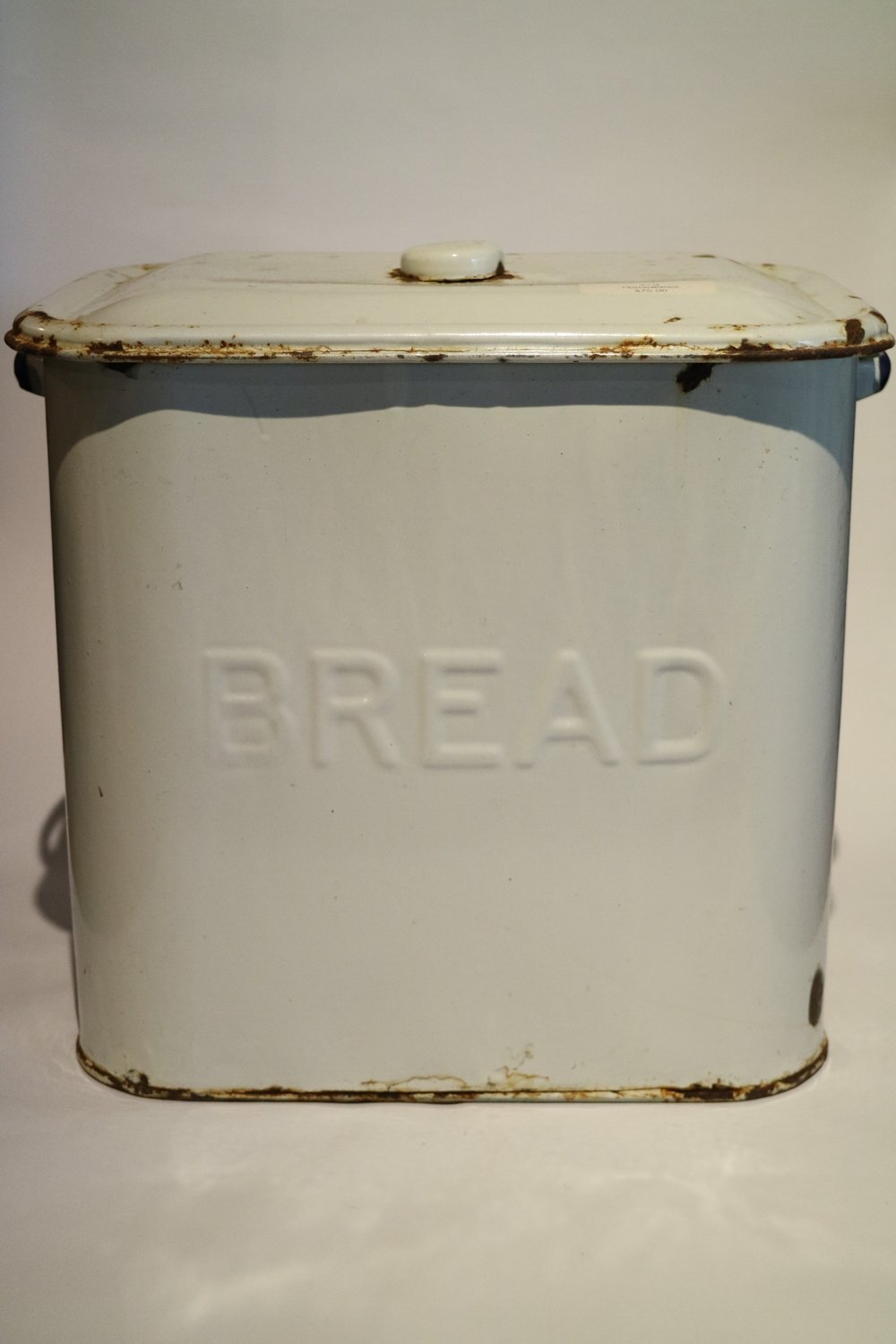 Antique Enamelled Bread Tin