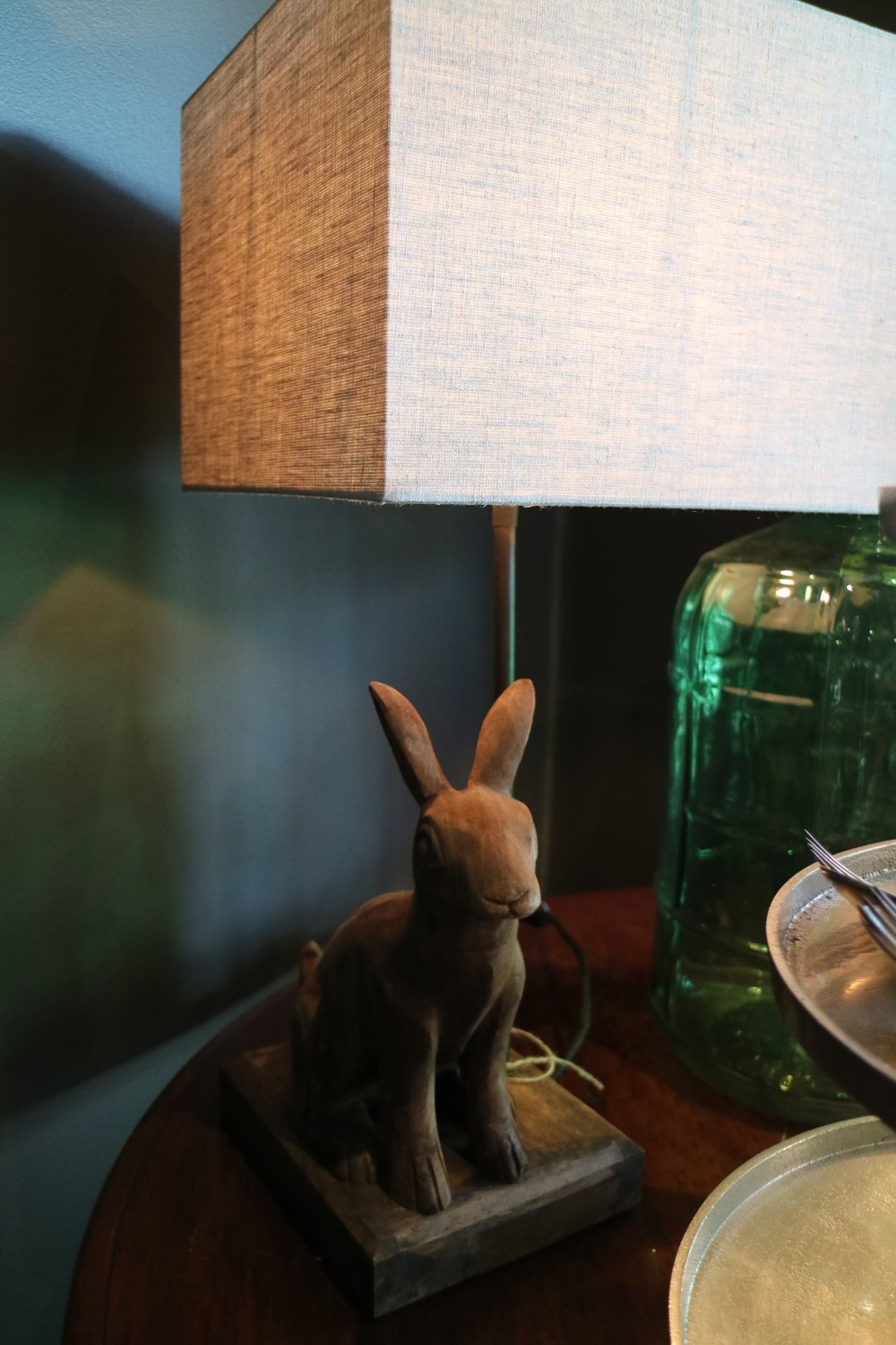 Wooden Rabbit Lamps