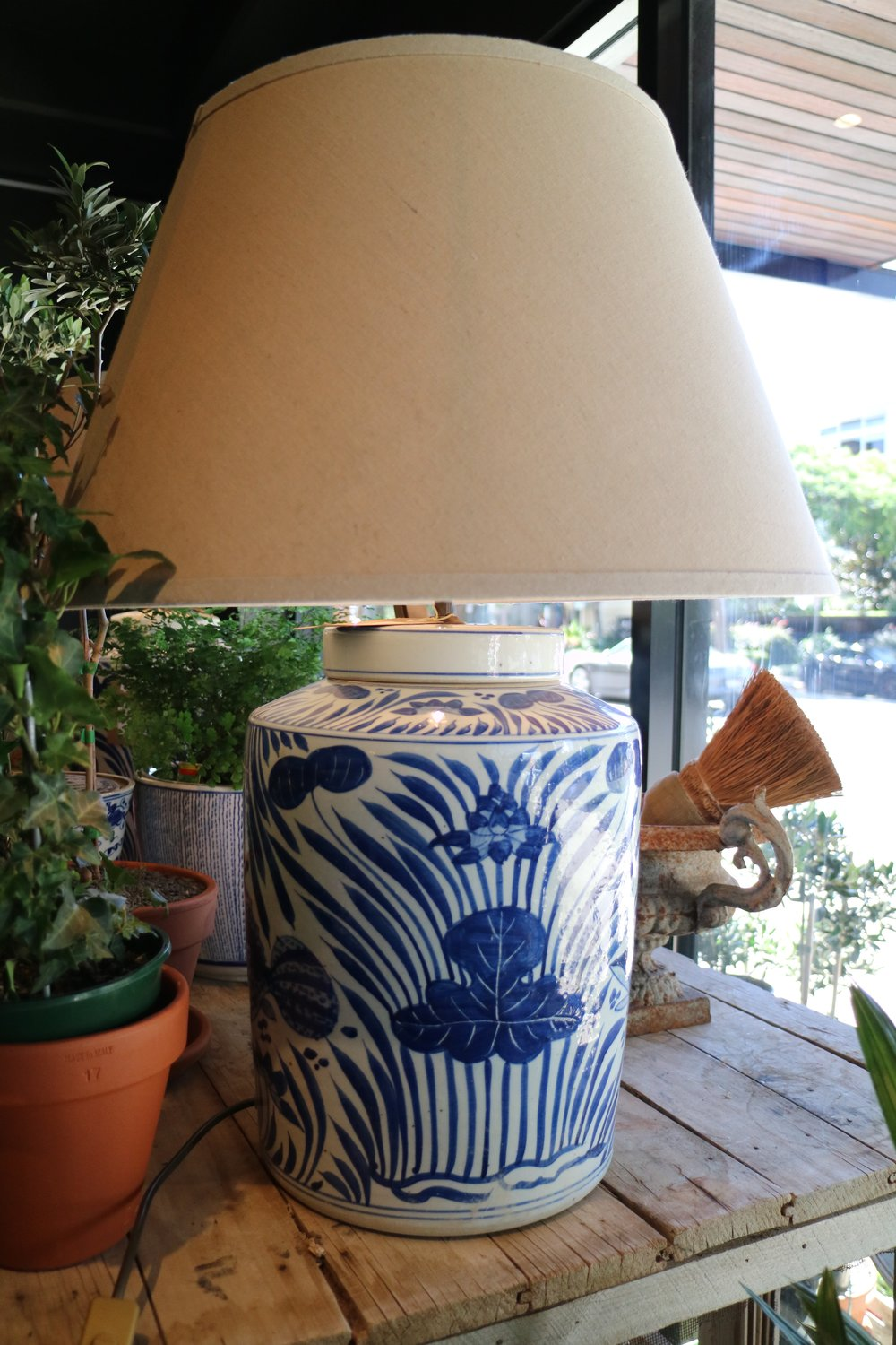 Ceramic Lamps, Blue & White