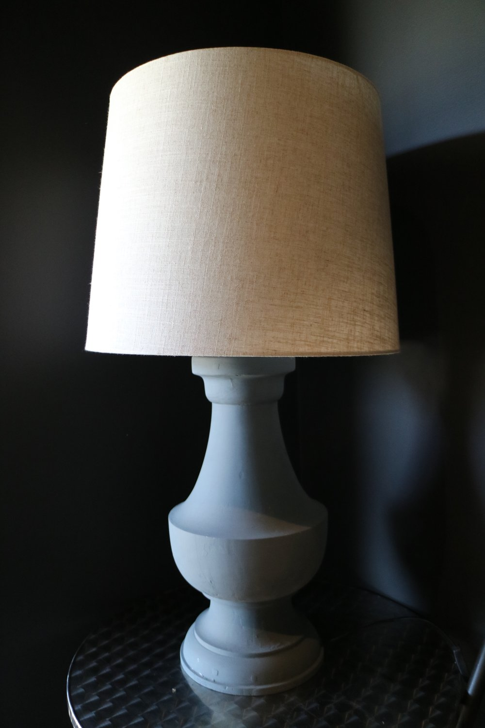 Large Grey Lamp