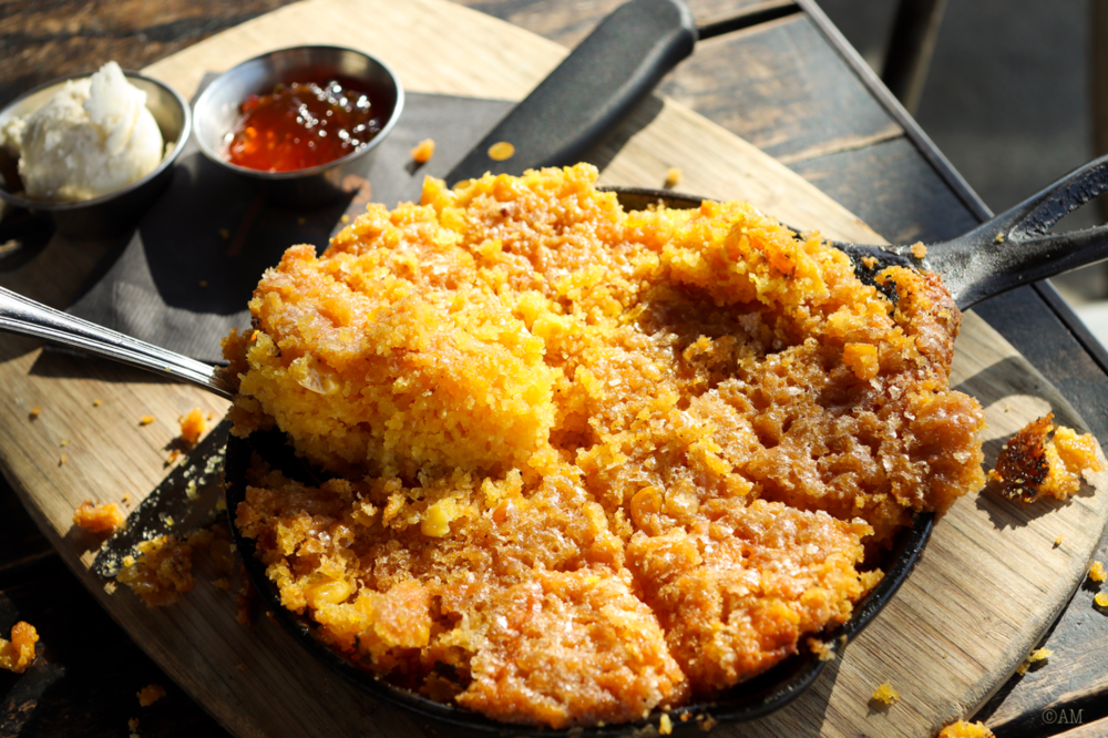 The best cheddar cornbread you will ever eat.