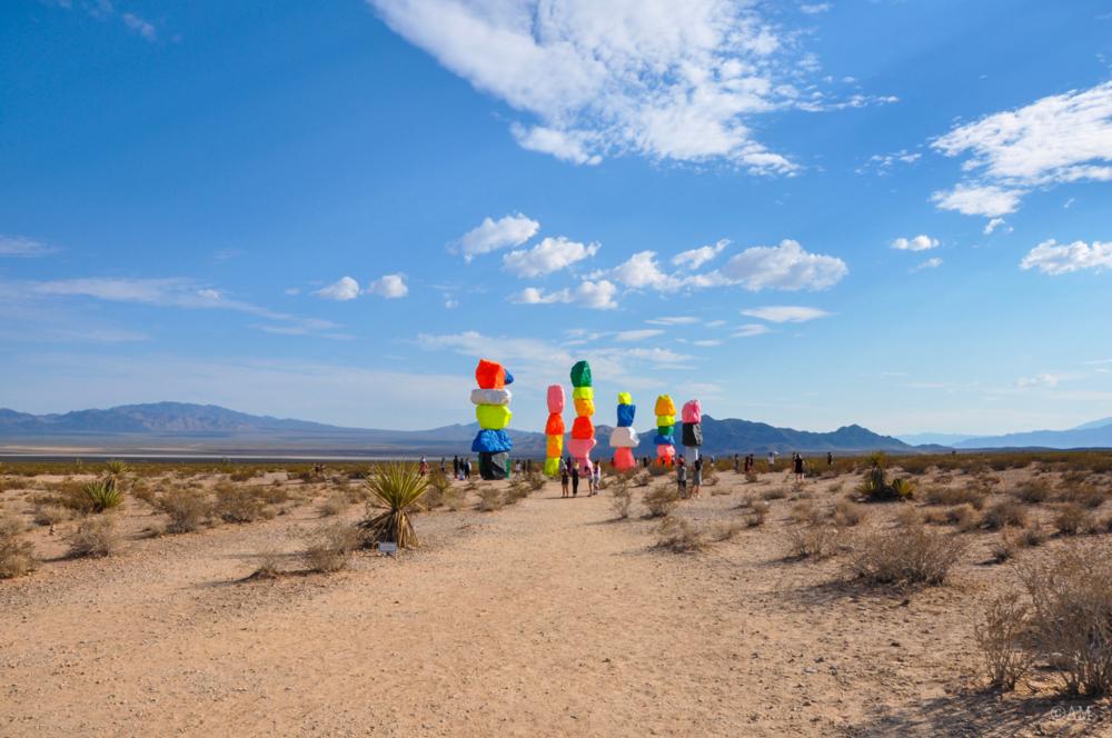 Ugo Rondinone's art installation, Seven Magic Mountains.