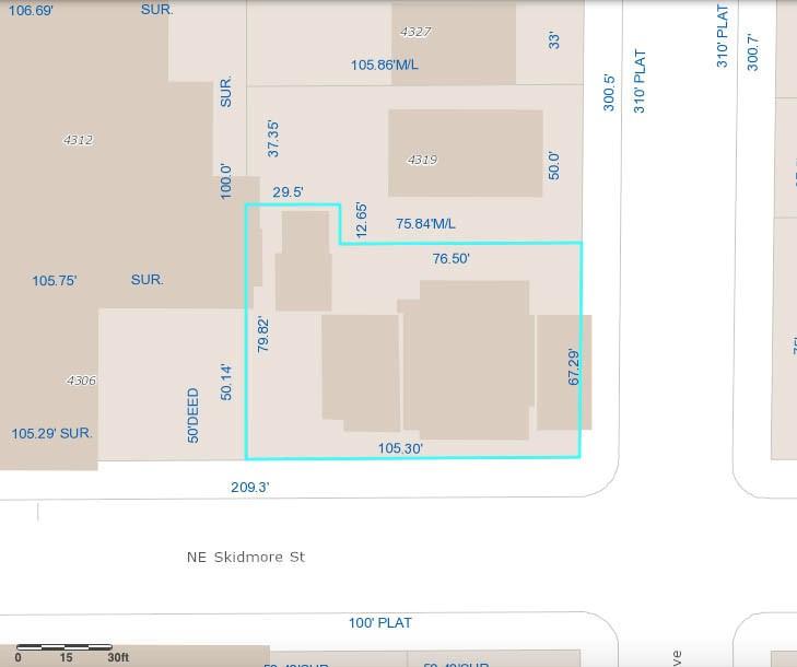 41 NE Skidmore site plan.