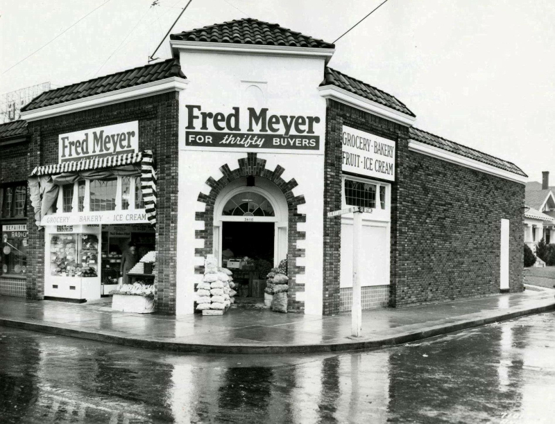 The original Fred Meyer, at SE 36th and Hawthorne. Now home to Bread & Ink Cafe.