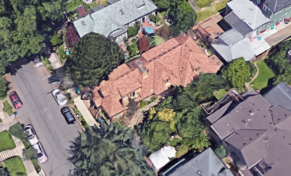 Axonometric aerial from Google Earth