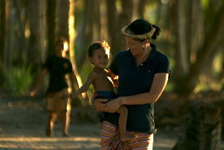Master Mau Piailug's great-granddaughter Romina in Satawal, Micronesia