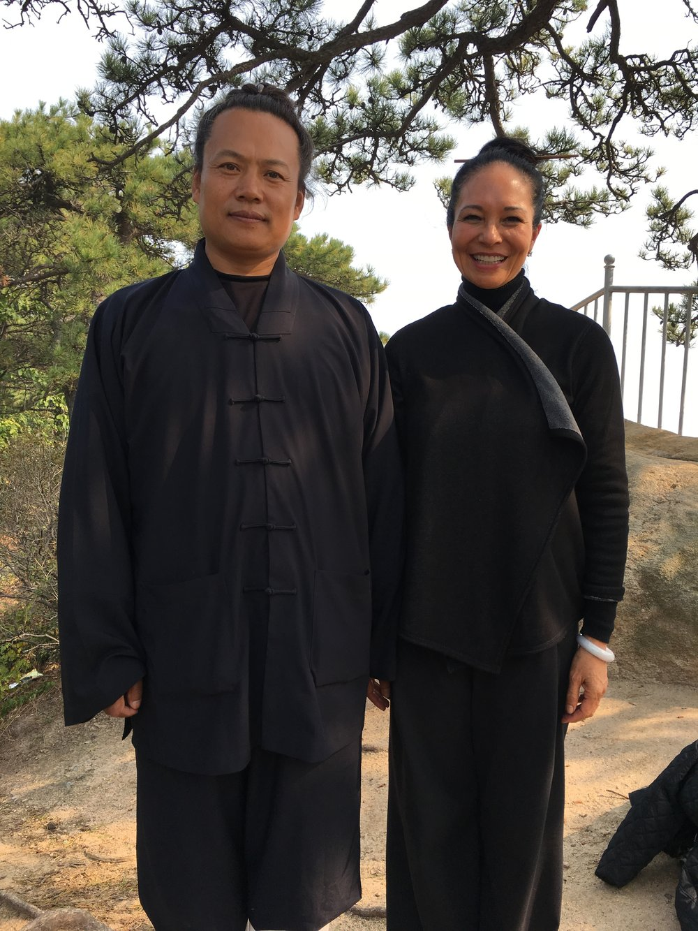 With Qi Kung Master, China