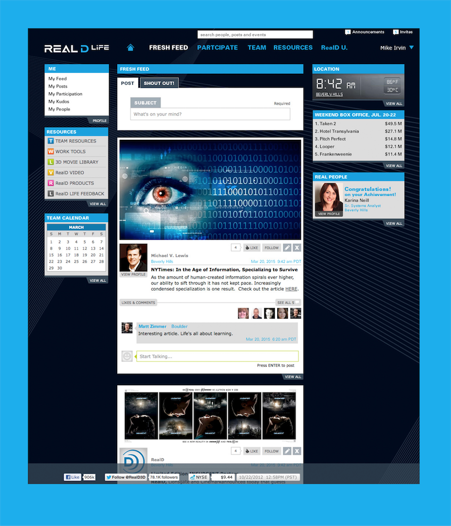 INTRANET DESIGNED AND UX