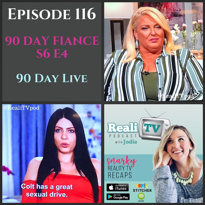 Episode 116: 90 Day Fiance S6E4 & 90 Day Live 11.15.18 - Well Eric really outdid himself this time on 90 Day Fiance (0:00). He managed to piss of every member of Leida's family, including the kid that's been wrapped around his neck for the past week. Should we just reserve the fire house for him? Or maybe a place on Larissa's couch that costs more than Colt's car…or her bail! Speaking of updates, Michelle Collins hosted another 90 Day Live and we had some very special guests. Debbie looked ravishing in red, but Angela stole the stage. With recently conditioned hair and sleeves, Mrs. Michael was glowing!Shop www.poshmark.com with referral code REALITV for $5 off your first purchase.Care/Of wants to personalize your health needs. Head to www.takecareof.com and use promo code REALITV to get 25% off your first month.Don't forget to subscribe to Girl's Girls Podcast! Brittany & Meredith are waiting to have a glass of wine with you as they talk sex, friendship, fashion, parenting. It's not safe for work, which is the best kind of podcast!