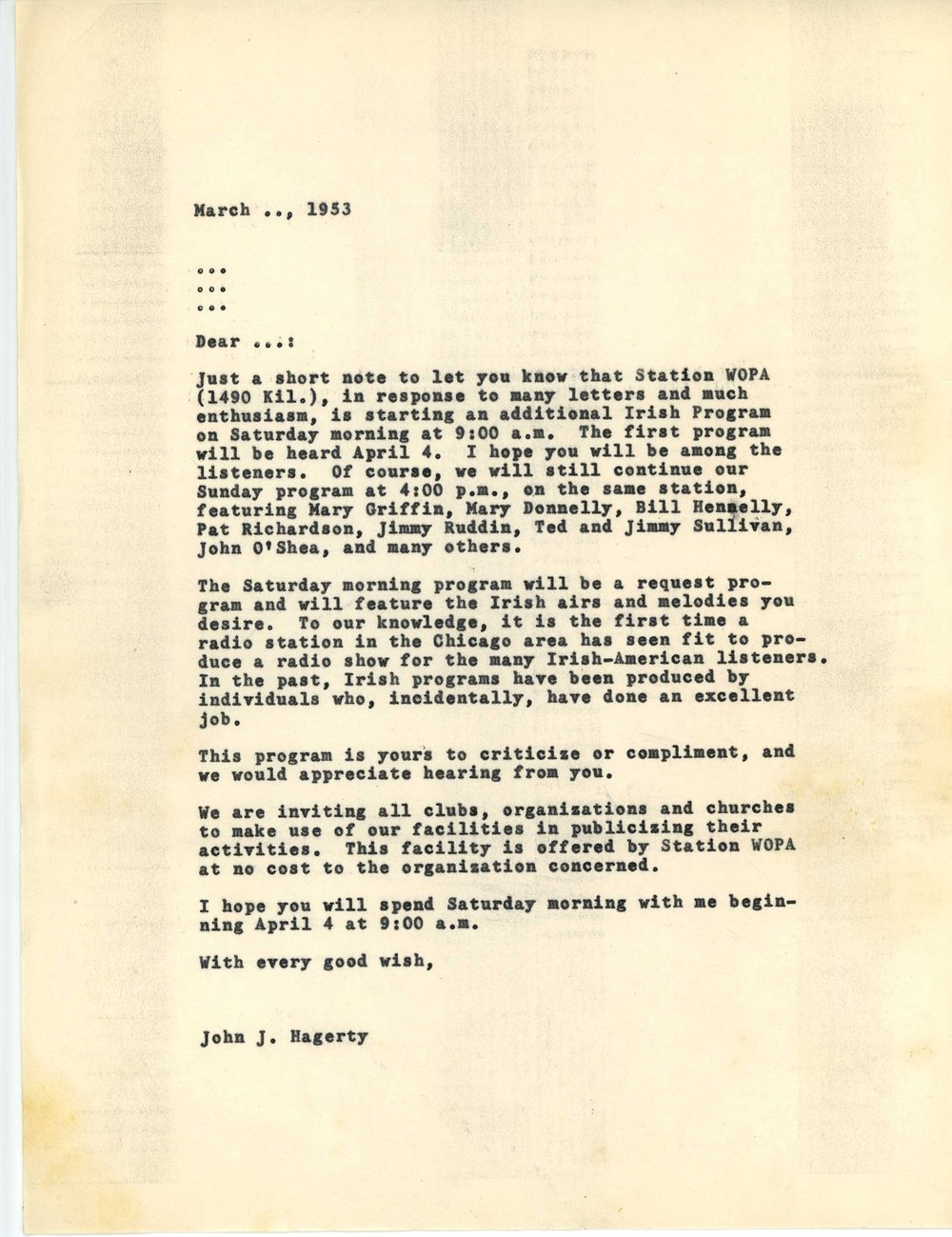 jack hagerty letter re start of sat irish hour.jpg