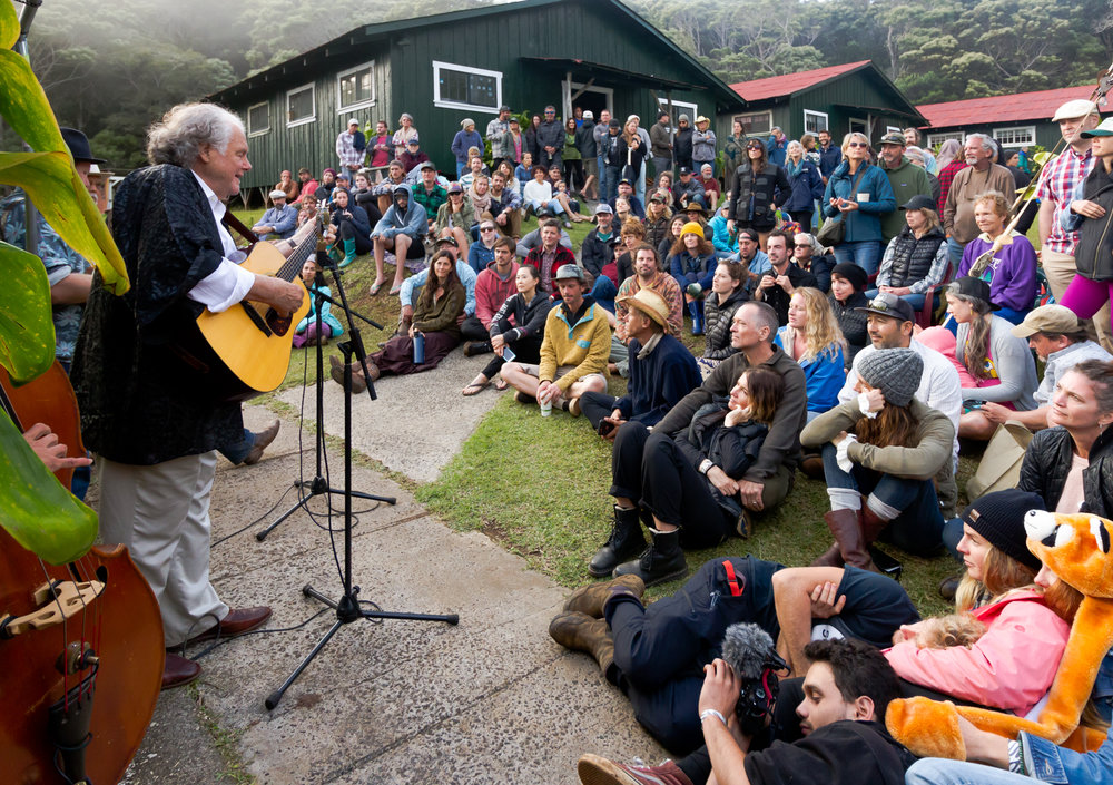 Peter Rowan performs with Kumu Nakana Wong, Kilin Reece and Paul Sato at KOTG 2018
