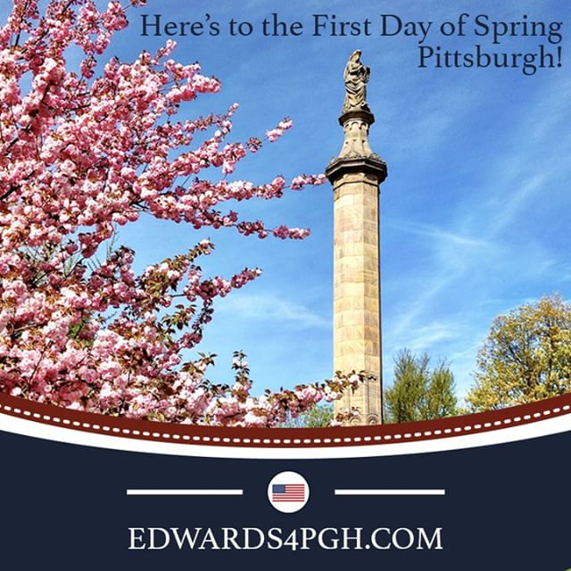 Happy #FirstDayofSpring #Pittsburgh! Hopefully the weather catches up soon. In the meantime #ShannonEdwards & the whole team will be hitting the street all week reaching out to the families of #Pittsburgh. Get connected now to learn more and get involved: http://edwards4PGH.com""
