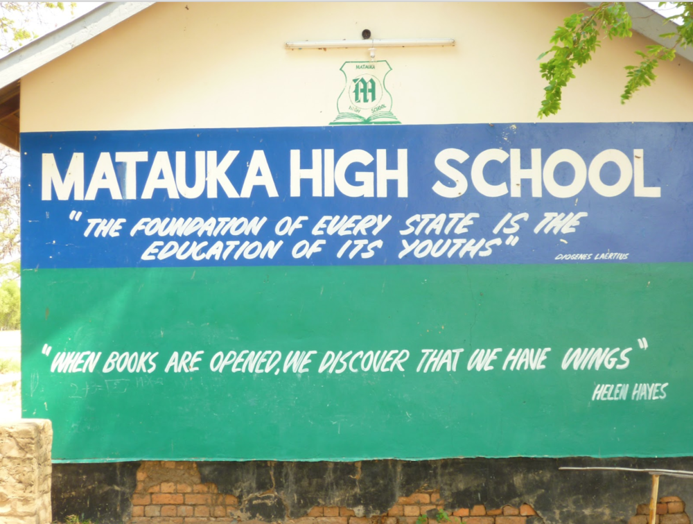 Matauka High School sign