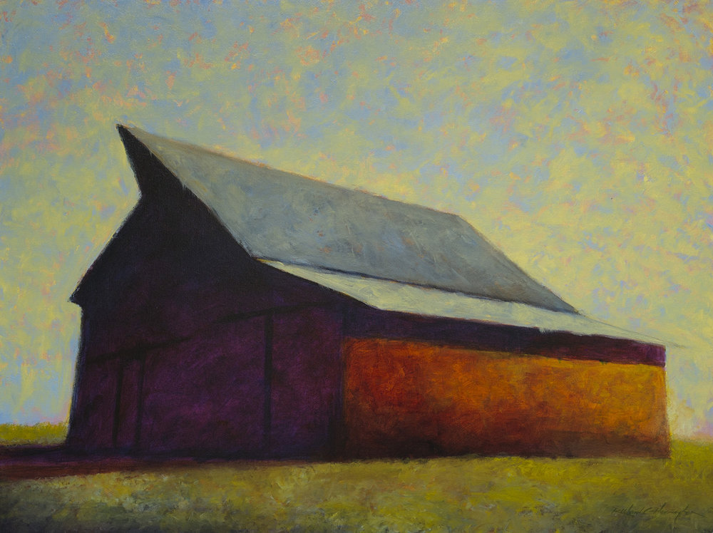 Anthony's Barn, 30 x 40 inches,oil on canvas. Private Collection.