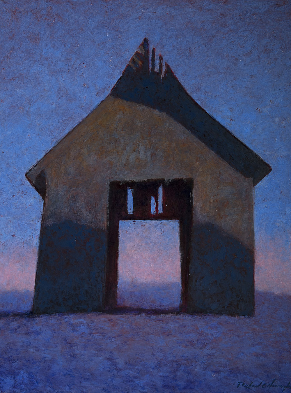 Crumbling at Dusk, oil on canvas, 40 x 30 inches. Available through  Xanadu Gallery .