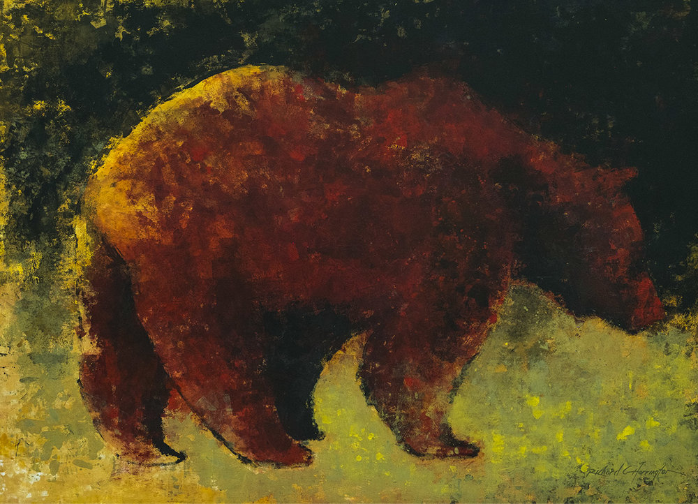 Grizzly, 48 x 66, acrylic on panel. Available through artist