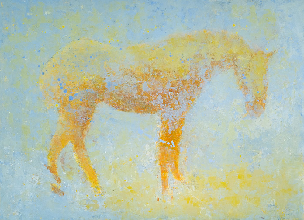 Pale Horse, 48 x 66, acrylic on panel. Private Collection.