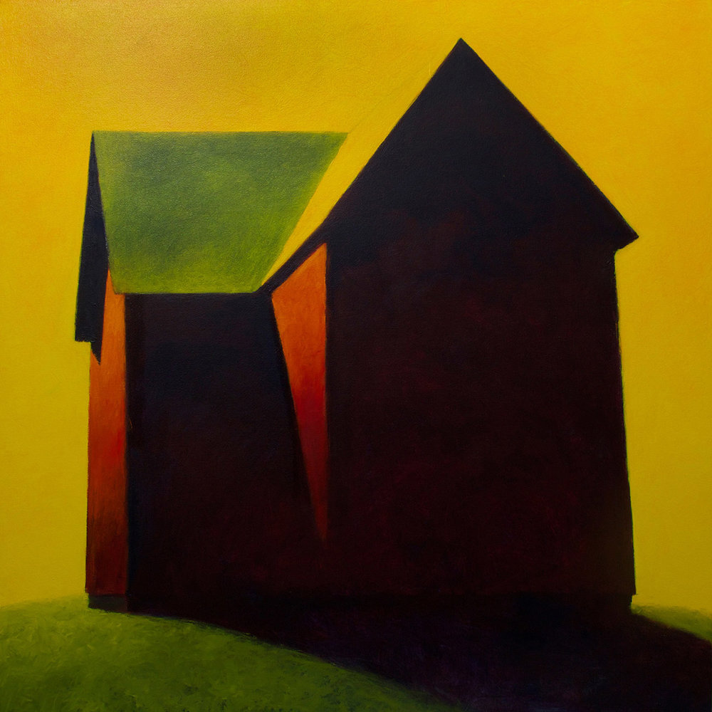 Old Woman's Barn, 48 x 48, oil on canvas. Available through  Summit Gallery