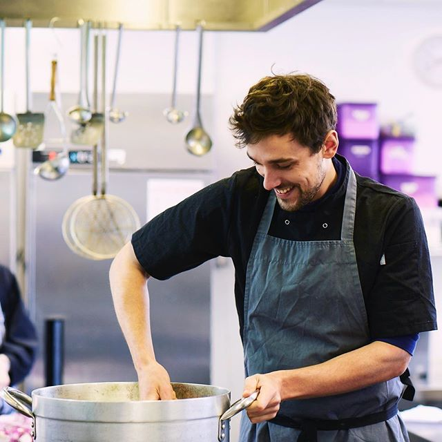 "Children and chefs both benefit from #ChefsInSchools. Oliver Pagani says ""At the worst time I was working at a Michelin-started place doing an 80 hour week. Now it's half that time for the same money. So I have hobbies! I have a life! I get to see my girlfriend! It's wonderful."" . If you're a chef looking for a new challenge, get in touch. . . #cheflife #betterispossible #chefjob"