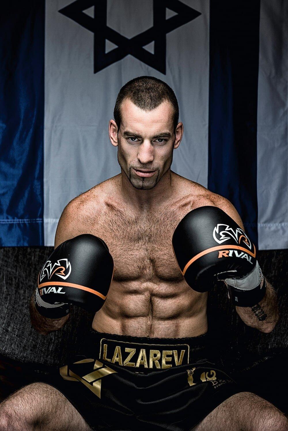 Igor Lazarev צילום פורטרט של המתאגרף איגור לזרב