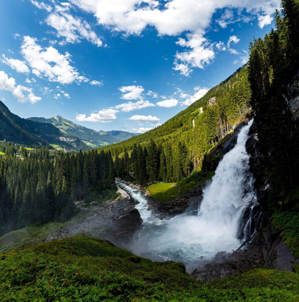 Krimml waterfalls, Austria מפלי קרימל, אוסטריה