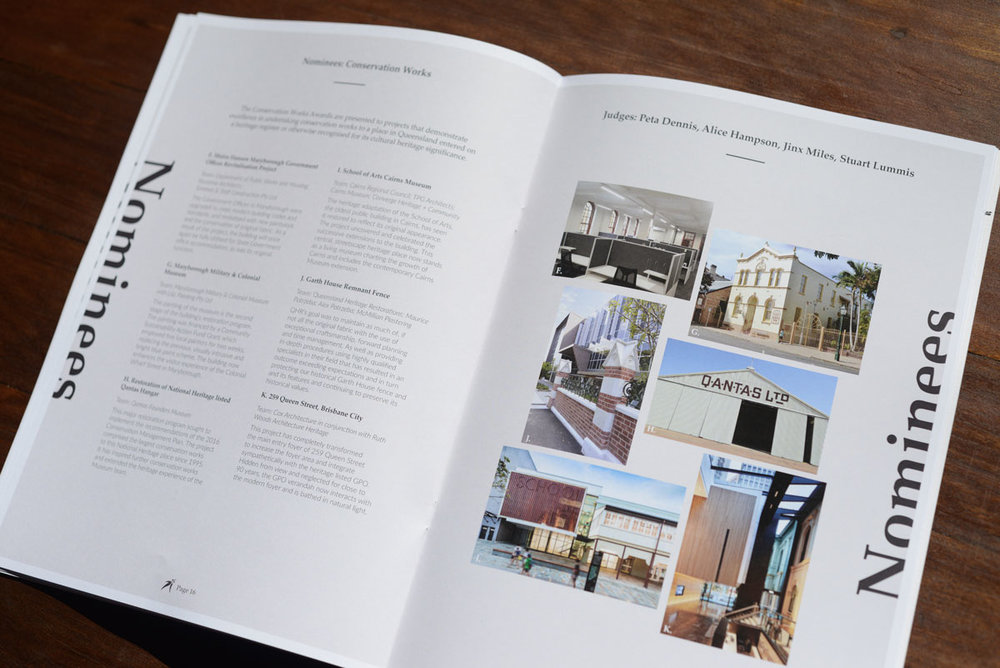 The Conservation Works nominees page for the National Trust of Australia (Queensland) Heritage Awards 2018 Guide.