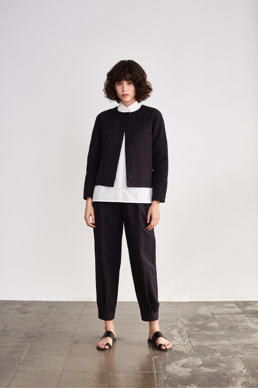 <b>10</b><br>Etel Herringbone Shirt<br>Fermina Typewriter Shirt<br>Tina Herringbone Pants