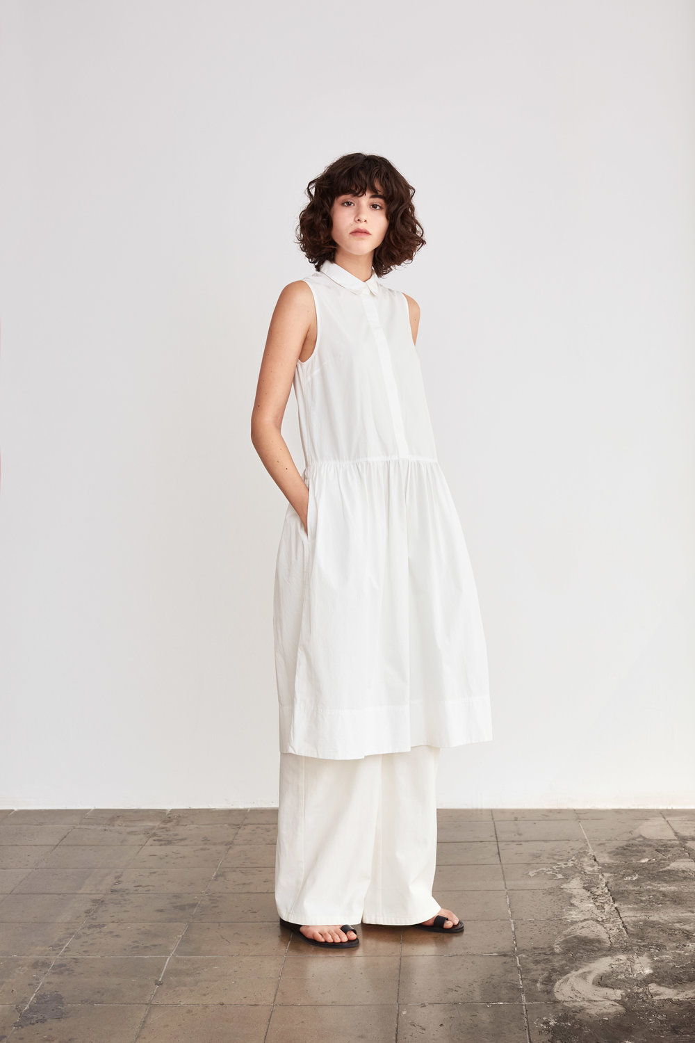 <b>1</b><br>Golda Cotton Shirt Dress<br>Felisa Cotton Pants