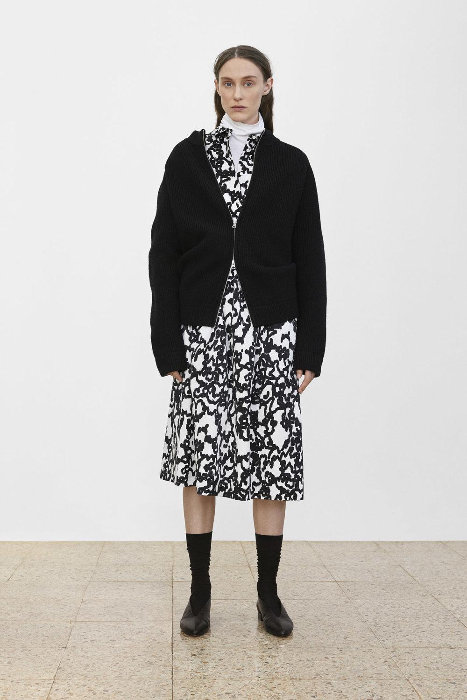<b>5</b><br>Rosie Cotton Turtleneck<br>Gordon Wool Blouson<br>Nadia Printed Shirt<br>June Printed Skirt