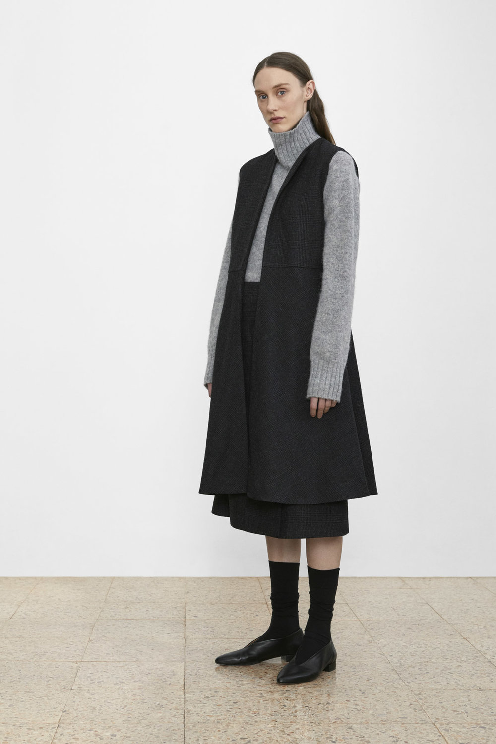 <b>6</b><br>Amber Wool Knit Top<br>Eloise Checked Wool Dress<br>Olive Checked Wool Skirt