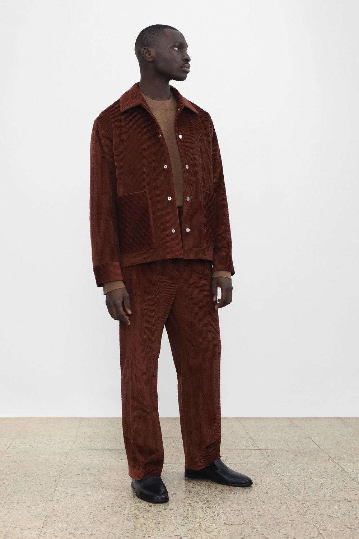 <b>10</b><br>Orson Corduroy Jacket<br>Amoson Milano Knit Top<br>Alexander Corduroy Pants